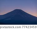 富士山 寒冬 冬天 77423459