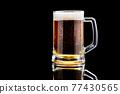 Studio shoy of Mug with beer on dark background 77430565