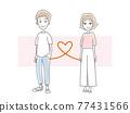 矢量 夫婦 情侶 77431566