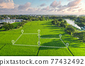 Land plot in aerial view for development or investment. 77432492