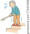 樓梯 腳步 步驟 77442098