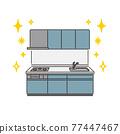 廚房 矢量 灶 77447467
