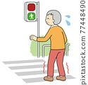 紅綠燈 人行橫道 十字路口 77448490