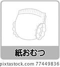 紙尿布 尿布 垃圾 77449836