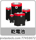 電池 垃圾 矢量 77450072