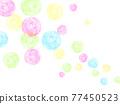 水彩畫 肥皂泡 底圖 77450523