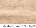 Jute hessian sackcloth woven burlap texture background in brown beige cream color 77451620