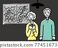 年長的夫婦 年長夫婦 老兩口 77451673