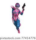 一個女人拿著槍 77454776