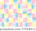 水彩畫 圖案 模式 77458411