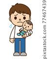 ikumen(喜歡育兒的男性) 嬰兒 寶寶 77467439