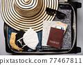 Open travel bag 77467811