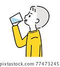 男人喝水 77473245