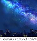 銀河 夜景 星星 77477428