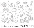 魚 畫線 一套 77478813