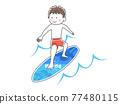 서핑을하는 남성의 일러스트 77480115