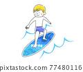 서핑을하는 남성의 일러스트 77480116