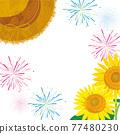夏天節日圖像背景例證 77480230
