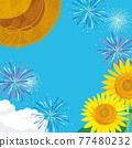 夏天節日圖像背景例證 77480232
