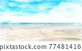 Sea sky scenery background 77481416