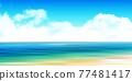 Sea sky scenery background 77481417