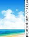 Sea sky scenery background 77481418