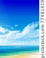 Sea sky scenery background 77481419
