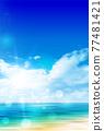Sea sky scenery background 77481421