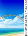 Sea sky scenery background 77481422
