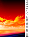Sea sky scenery background 77481423