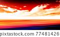 Sea sky scenery background 77481426