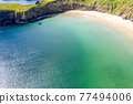 Aerial view of the Silver Strand in County Donegal - Ireland 77494006