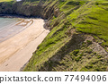 Aerial view of the Silver Strand in County Donegal - Ireland 77494096