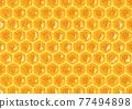 蜂蜜 六角形 底圖 77494898