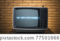 Photo of retro tv with analog television 77501666