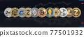 Cryptocurrency Bitcoin BTC with altcoin digital coin crypto currency, ETH Ethereum, ADA, XRP Ripple, LTC Litecoin, IOTA Miota, ZEC Zcash, XMR Monero, GASH, defi p2p decentralized financial tech market 77501932