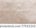 Beige gold velvet background or velour flannel texture made of cotton or wool with soft fluffy velvety satin fabric cloth metallic color material 77502342