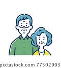 老人 老年夫婦 夫婦 77502903