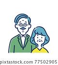 老人 老年夫婦 夫婦 77502905