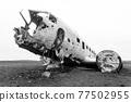 Solheimasandur plane wreck view. South Iceland landmark 77502955
