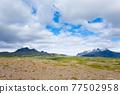 Skaftafell national park landscape, south Iceland landmark 77502958
