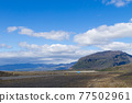 Perspective road from south Iceland. Icelandic landscape 77502961
