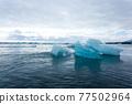 Icebergs on water, Jokulsarlon glacial lake, Iceland 77502964