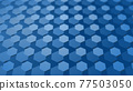CG Hexagon Background image composed of many hexagons 77503050