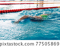 swimming competitions in the swimming pool 77505869