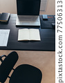 Office work table vacant position No people 77506313
