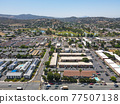 Aerial view of the suburb city of Lakeside, San Diego, USA 77507138