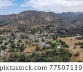 Aerial view of the suburb city of Lakeside, San Diego, USA 77507139