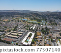 Aerial view of the suburb city of Lakeside, San Diego, USA 77507140