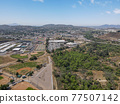 Aerial view of the suburb city of Lakeside, San Diego, USA 77507142